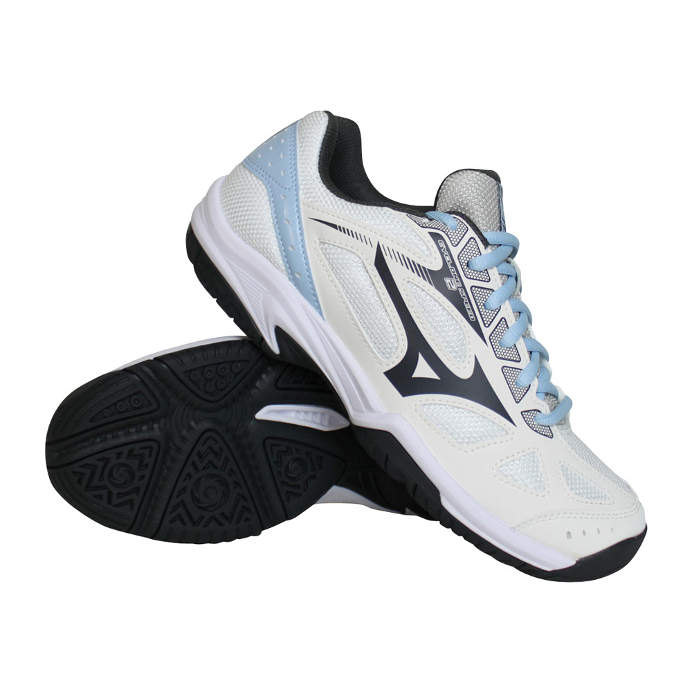 Mizuno Cyclone Speed 2 indoorschoenen dames wit/blauw