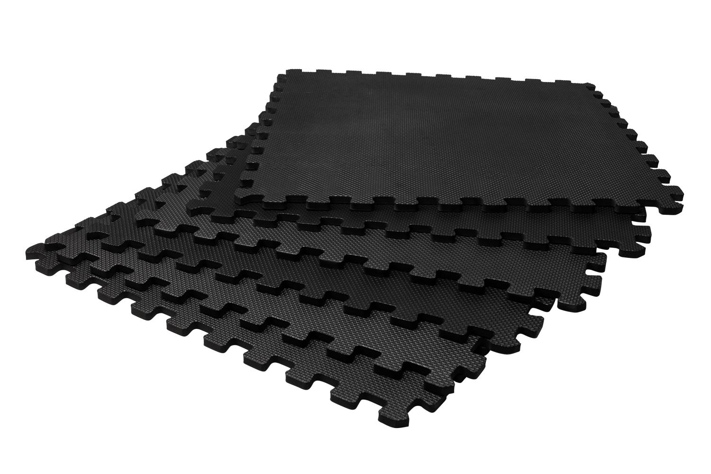 VirtuFit Fitness Puzzelmat - Vloermat - 6-delig - 180 x 120 cm - Zwart