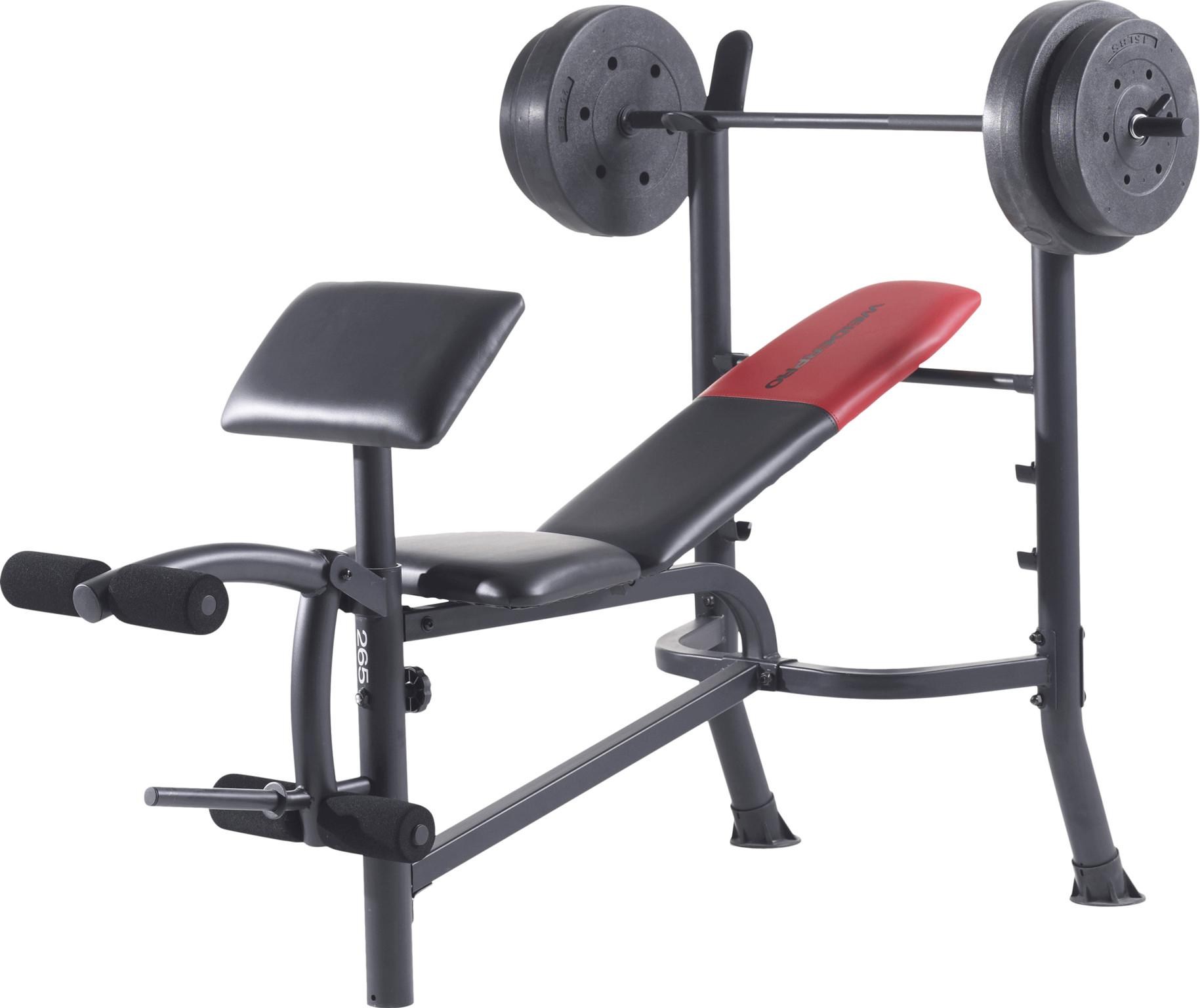 Weider Pro 265 Halterbank - Inclusief halterset van 36 kg