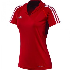 Adidas T12 Team Polo - Dames - Rood